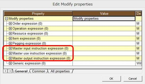 Modify properties command