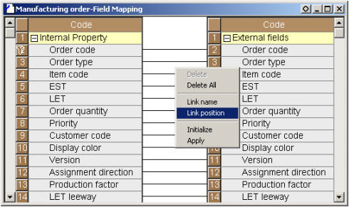 Field Mapping between internal properties and external fields